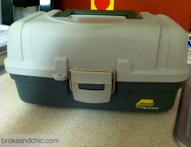 tackle box as makeup case
