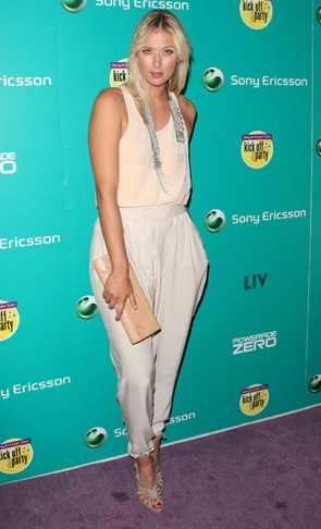 harlem pants Maria Sharapova Top 5 Summer 2011 Trends
