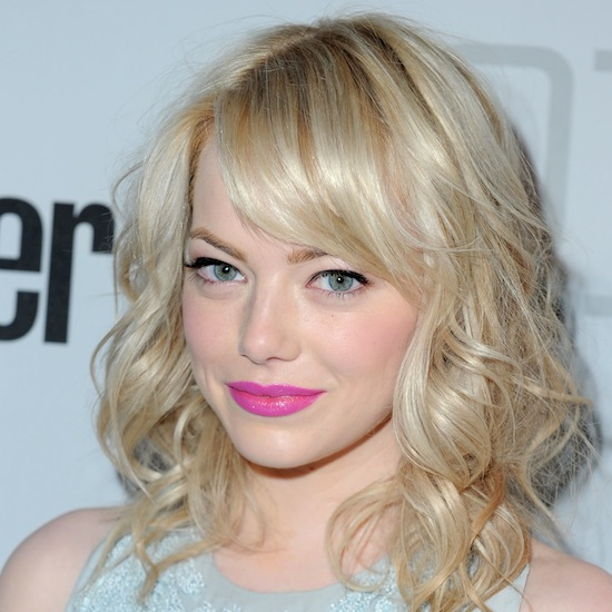 emma stone pink lipstick Back to School: 2011