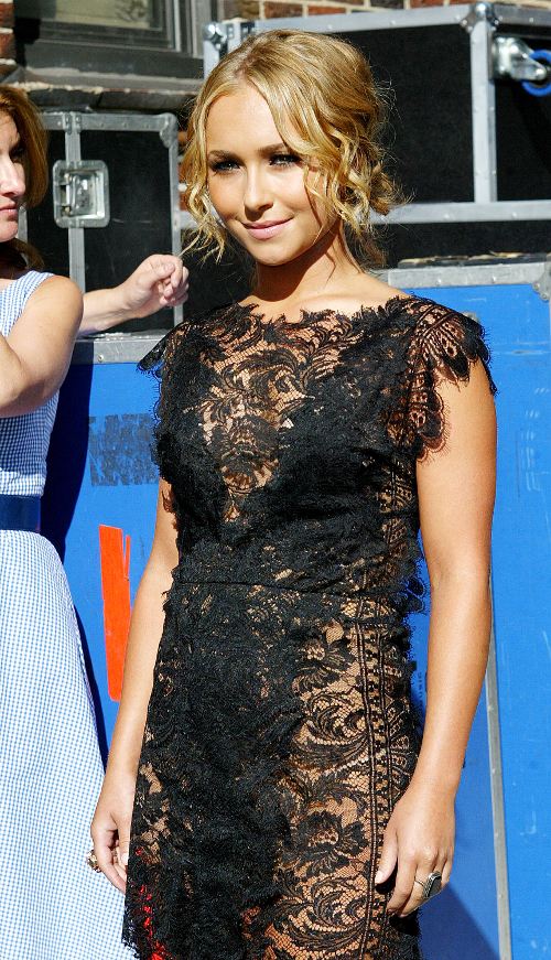 hayden panettiere letterman Get The Look For Less: Lace Dress
