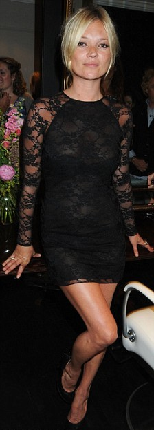 kate moss black lace dress Get The Look For Less: Lace Dress