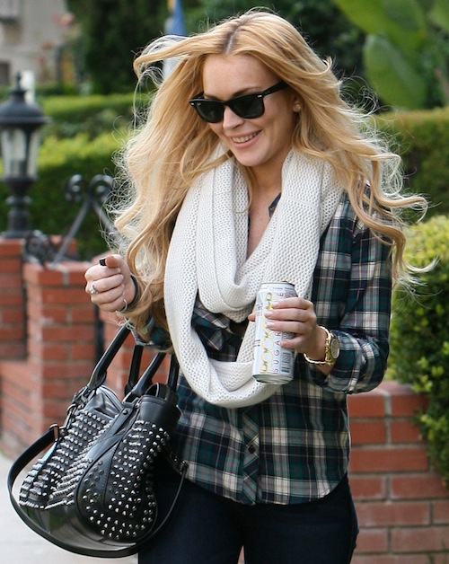 lindsay lohan studded burberry Trend Alert: Punk Goes Classy
