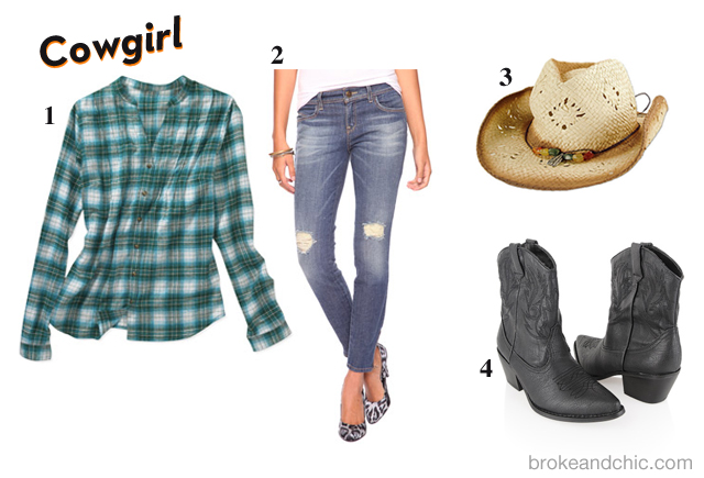 cowgirl A Broke & Chic Halloween