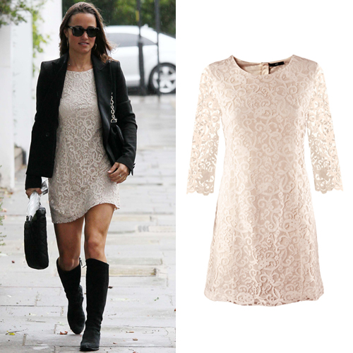 pippamiddleton affordablestyle atl 9911 Steal Her Look: Pippa Middletons White Lace Dress