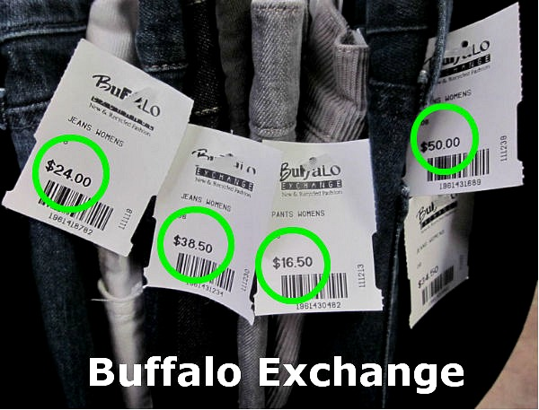 Buffalo Exchange pricing