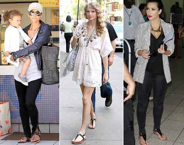 Blog.Celebrity.T Strap.Sandals.2010 Fashion Advice: How to Appear More Fashionable