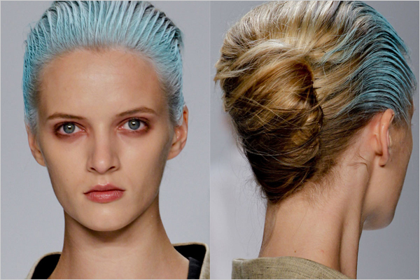 get spring 2012 beauty looks from dkny narciso rodriguez 3 Trend Alert: Hair Chalking