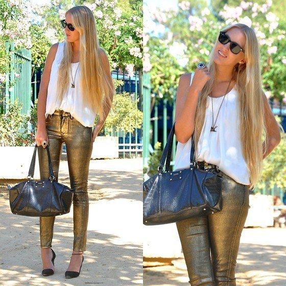 MartaM Trend Alert: Metallic Jeans