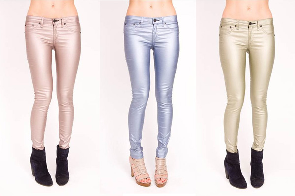 rag and bone metallic skinny jeans Trend Alert: Metallic Jeans