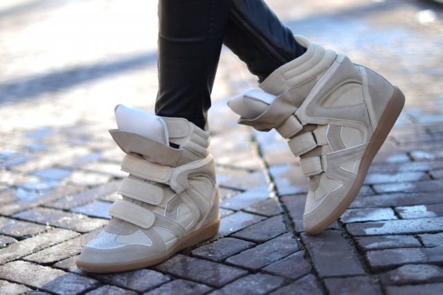 isabel marant willow sneakers beige wedge real 640x426 Trend Alert: High Top Sneakers