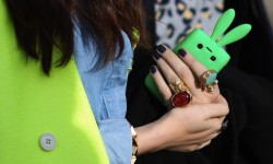 neon bunny iphone case
