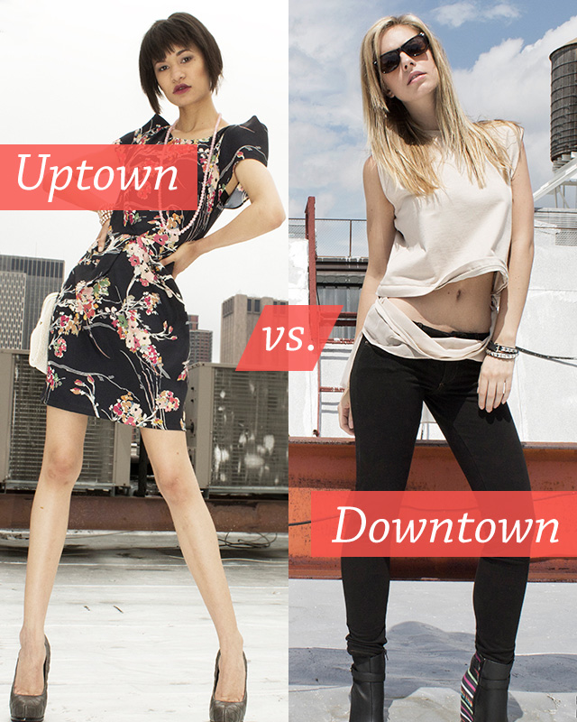 Fall Fashion: Uptown Vs. Downtown