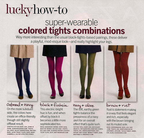 Colored Tights Combinations1 Trend Alert: Colored Tights