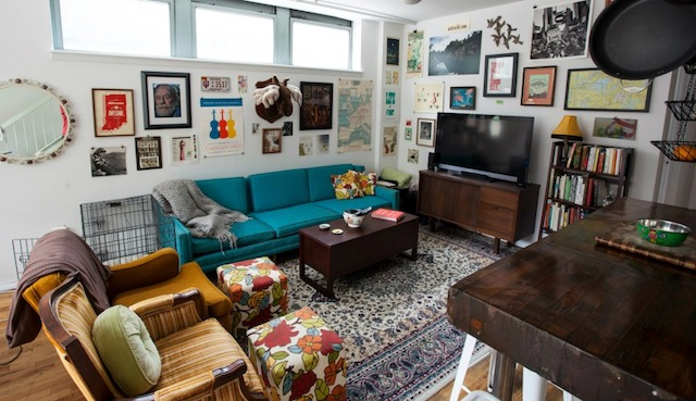 Hipster decor broke and chicbroke and chic for Hip living room ideas