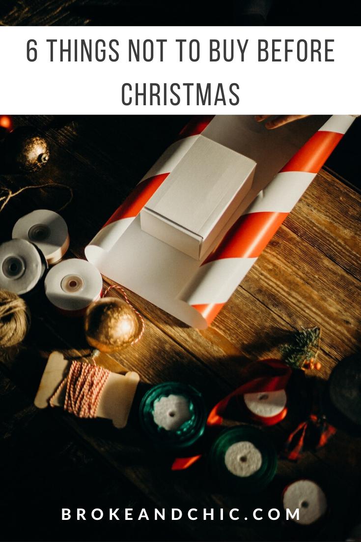 Christmas shopping advice
