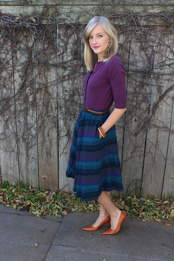 berry colors vintage skirt 4 Were Judging the Thrift Store Runway This Month: Win Up to $500!