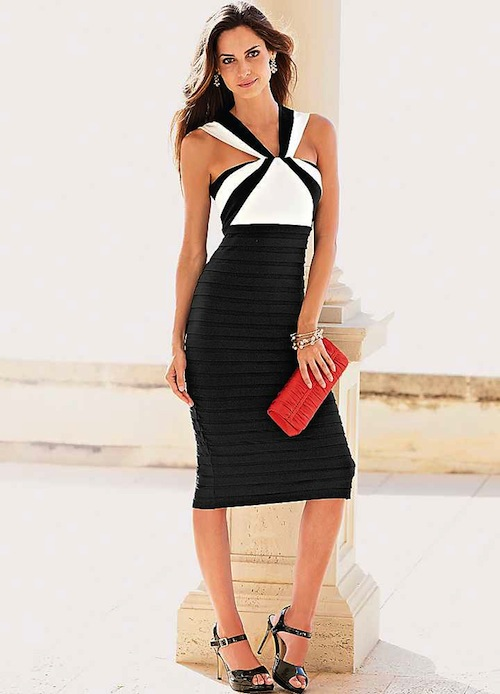 Contrast Dress62D711FRSP Your Summer Social Life: How to Stay Stylish at Every Event