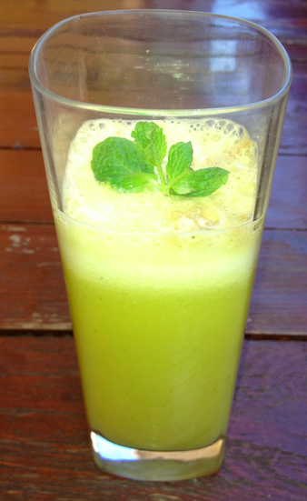 Pineapple, Apple and Mint Juice