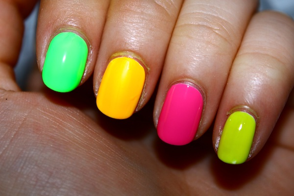 twist. Nail art neon nails How to Follow Trends when Youre on a Tight Budget