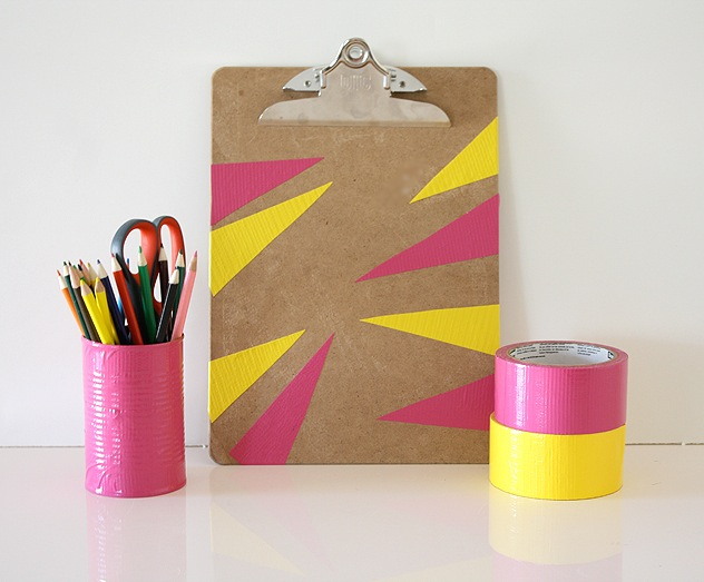 pinkyellowclipboard DIY: 8 Unexpected Things to Do with Duct Tape