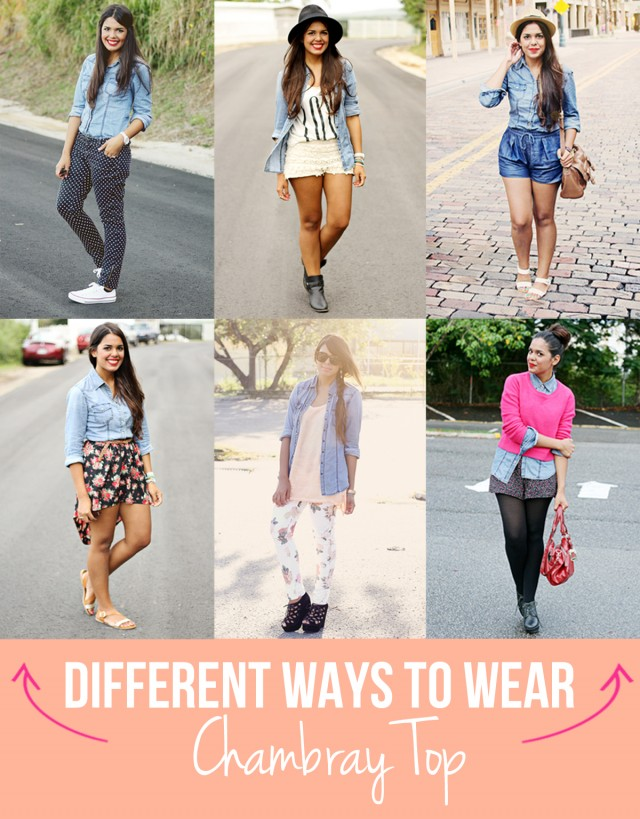 different ways to wear - cambray top
