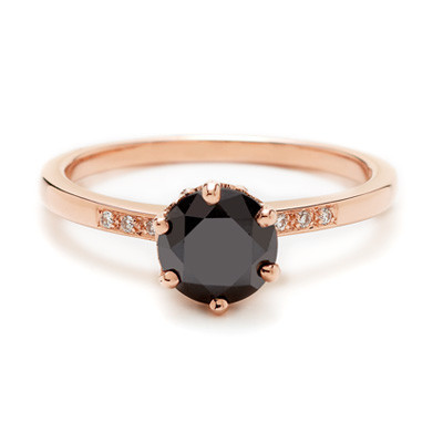 black diamond 6 Gorgeous Engagement Rings Under $5,000