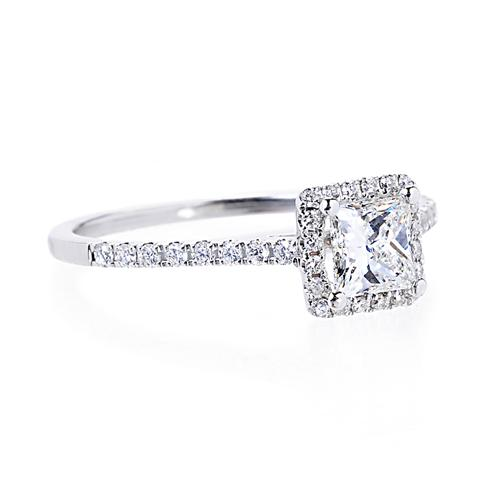 Stay simple with this 0.51 carat princess-cut diamond engagement ring.