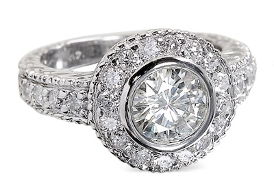 moissanite1 6 Gorgeous Engagement Rings Under $5,000