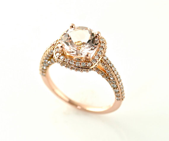 morganite engagement 6 Gorgeous Engagement Rings Under $5,000