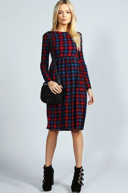 boohoo-plaid-dress