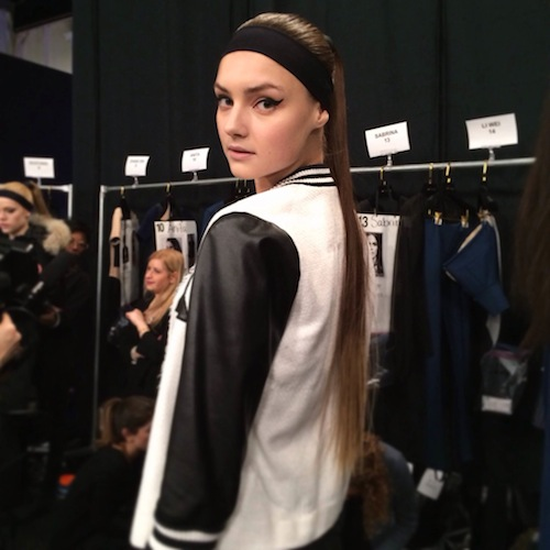 photo Trend Alert: Sporty Chic Backstage at NYFW