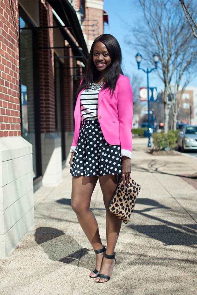 stripes with polka dots