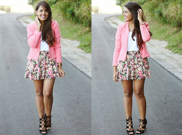 Long floral skirt how to wear