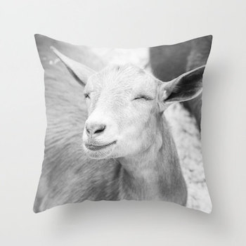 goat pillow etsy Update Your Space with These Totally Awesome Pillows