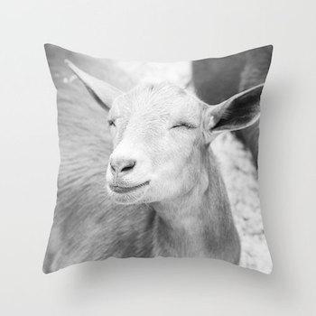 goat pillow etsy