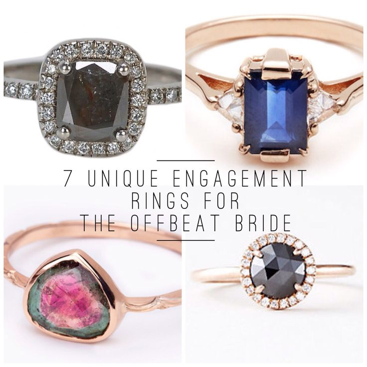 7 Unique Engagement Rings For The Offbeat Bride Broke and