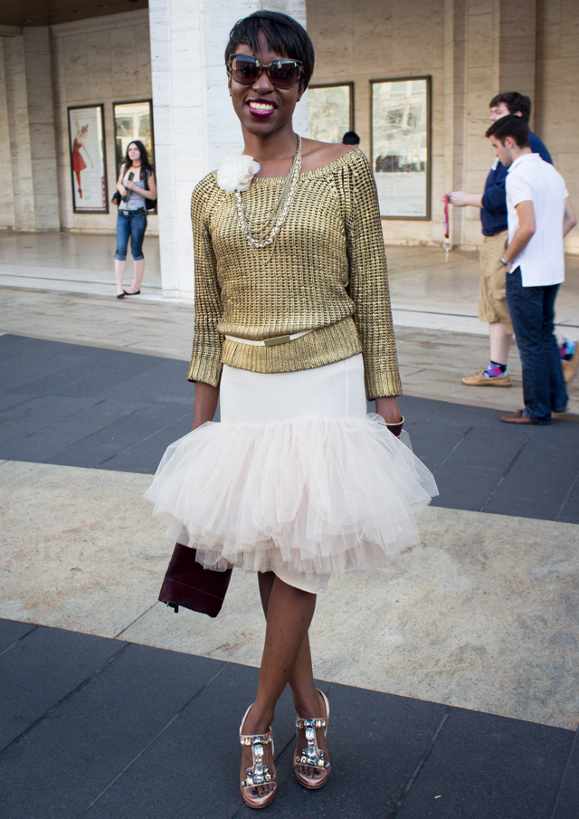 Tulle skirt1 Our 9 Favorite Street Style Trends from New York Fashion Week