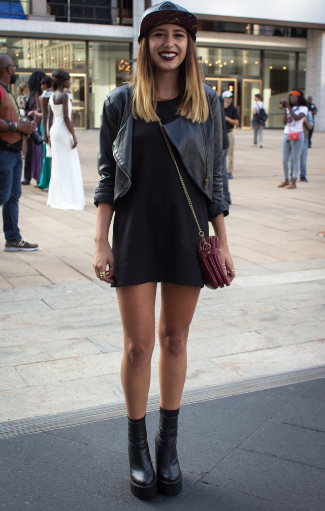 black outfit2 Our 9 Favorite Street Style Trends from New York Fashion Week