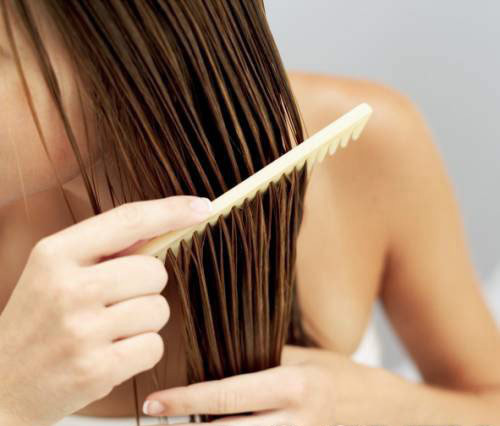 comb through wet hair
