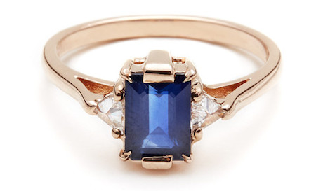 sapphire ring 7 Unique Engagement Rings For The Offbeat Bride