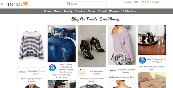 trendslove homepage Love Saving Money? Then Youll Love This New Website!