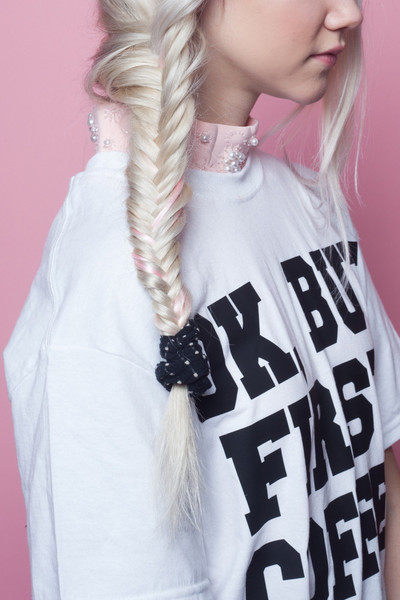 Pink hair, don't care // www.brokeandchic.com