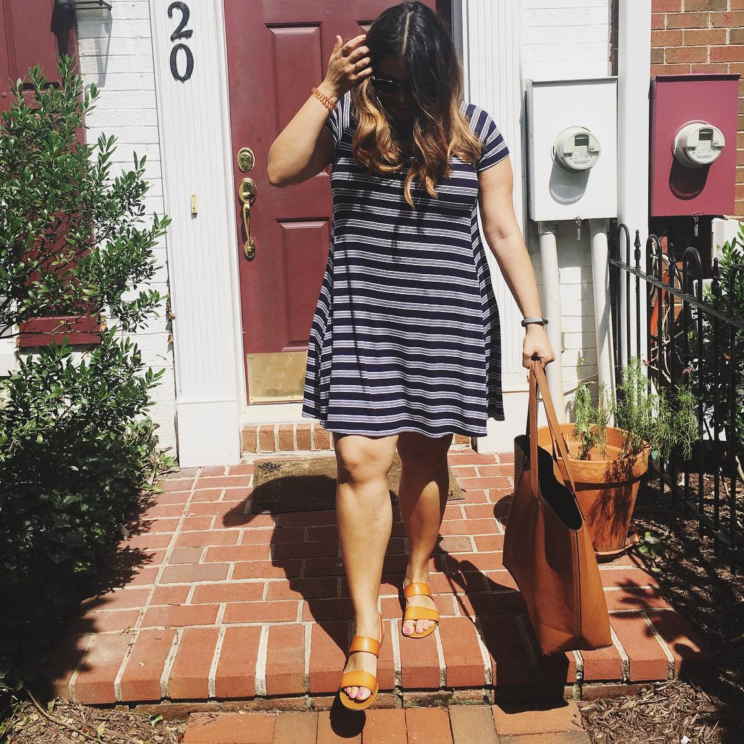 Broke Fashion: Never Not Wearing Stripes // www.brokeandchic.com