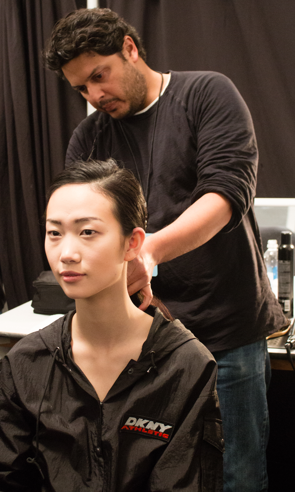 Backstage at Mercedes-Benz Fashion Week in NYC