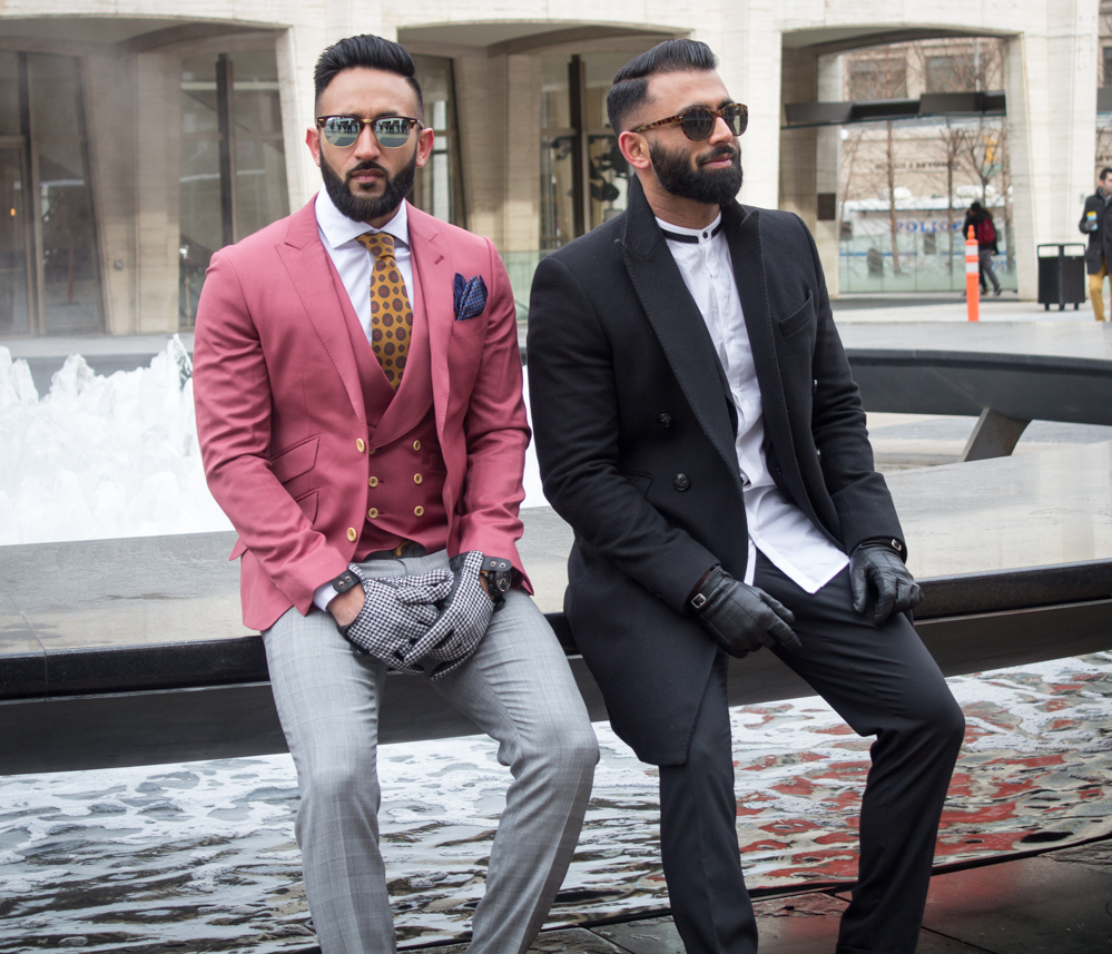 Street Style: Fashionable Duos and Trios at New York Fashion Week