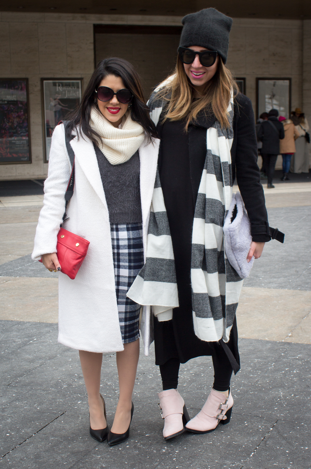 Street Style: Fashionable Duos and Trios at New York Fashion Week // www.brokeandchic.com