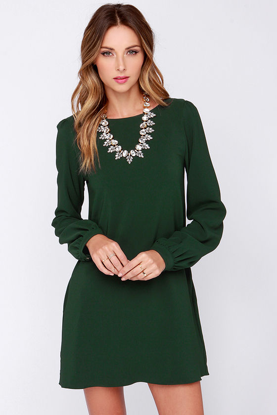 Go green with this sweater dress from LuLu*s!
