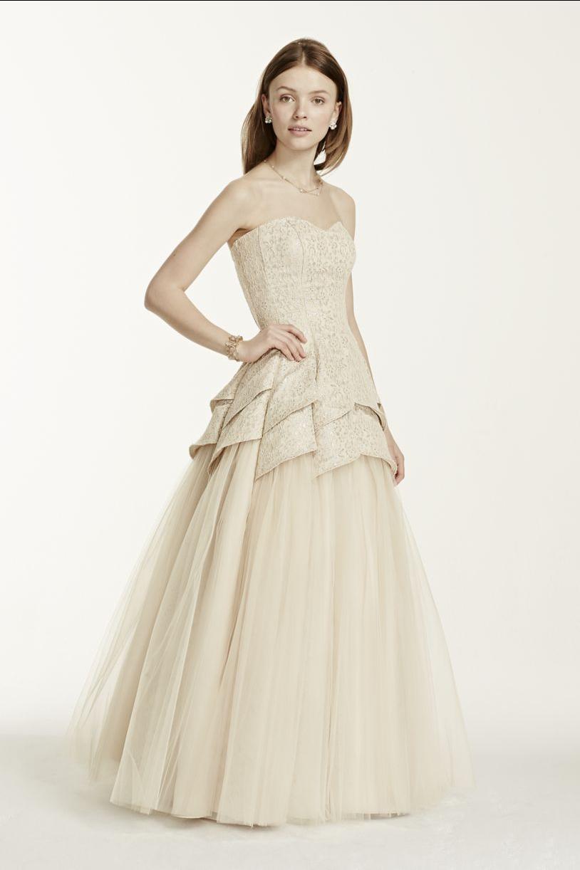 David's Bridal prom dress!