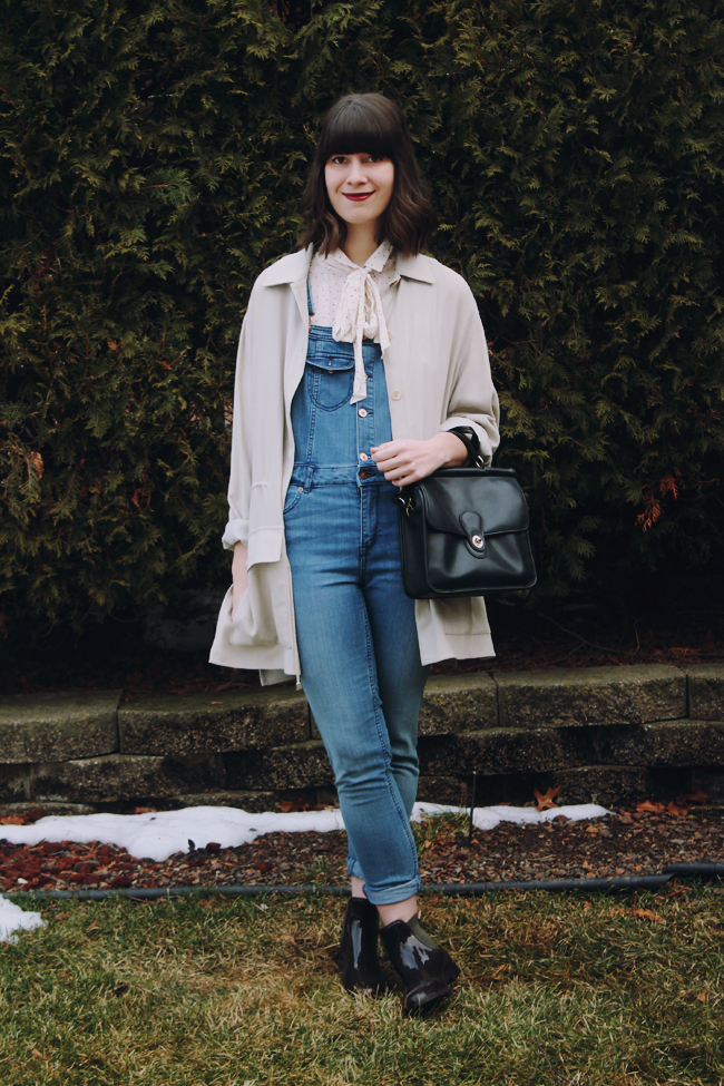 Re-vamp Your Winter Wardrobe with a Pair of Overalls // www.brokeandchic.com