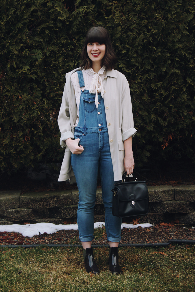 Overalls done right // www.brokeandchic.com